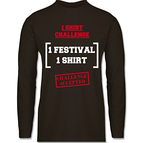 Shirtracer Festival - 1 Shirt Festival Challenge - Herren Langarmshirt Braun