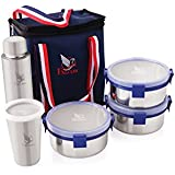 Falcon Hot-N-Fresh Stainless Steel Lunch Box, 5-Pieces