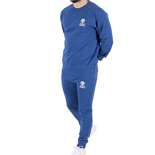 Franklin-Marshall-Mens-Chest-Logo-Sweatshirt-Tracksuit-Blue