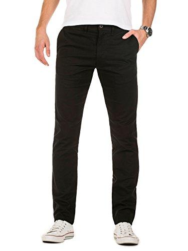 Yazubi Chino Herren Hose schwarz - Kyle by YZB Jeans schwarze Hosen - Business Chinohosen Männer Stretch Chinos, Schwarz (Black 194008), W36/L34