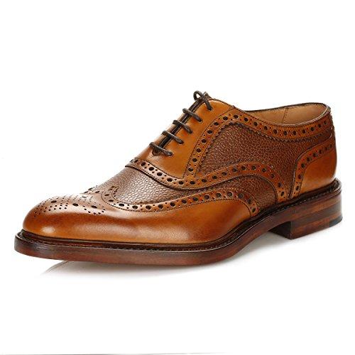 loake-uomo-marrone-funnelweb-brogue-scarpe-uk-12