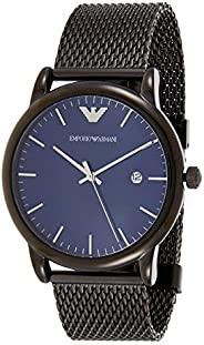 Emporio Armani Men's Blue Dial Stainless Steel Band Watch - AR1