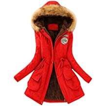 Mujer Invierno Abrigo Parkas Militar con Capucha Chaqueta de Acolchado  Anorak Jacket Outwear Coats af0822aadbb5