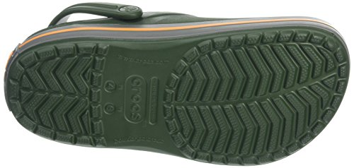 Crocs Crocband Clogs, Green (Forest Greenslate Grey), 5 Uk Women 4 Uk Men (7 Us Women 5 Us Men)