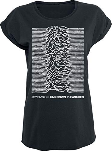 JOYDIVISION Joy Division Unknown Pleasures Camiseta Mujer Negro L