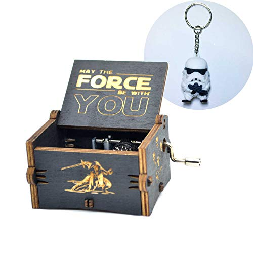 Y&S Caja de música de Star Wars de Madera grabada Caja de Regalo Musical manivela de Mano Invierno Viene Caja de música para niños Regalo, Star Wars