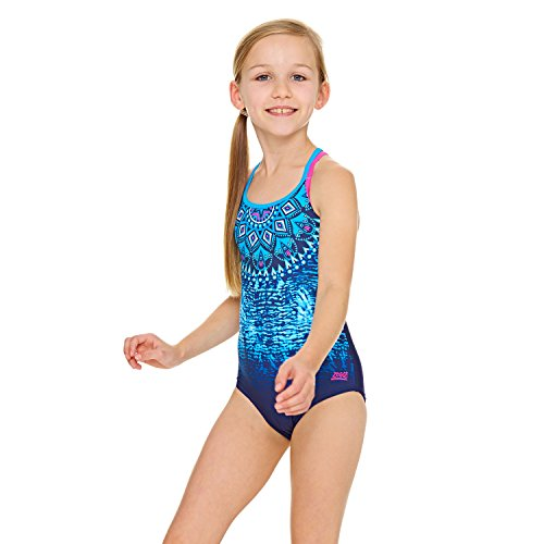 Zoggs Girls' Native Spirit Double Crossback Swimsuit