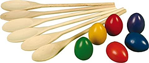 Kids Outdoor Garden Games Classic Sports Day Game Egg N' Spoon Race Equipment