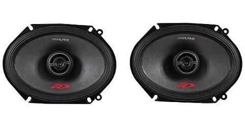 Alpine Spr-68 6 x 8 Inch 2 Way Pair of Car Speakers Totalling 600 Watts Peak / 200 Watts RMS by ALPINE