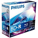 Philips BD-R BR2S6J05C/00 - disques vierges Blu-Ray (BD-R, 120 mm, 25 Go, 6x, Boîte, 5 pièce(s))