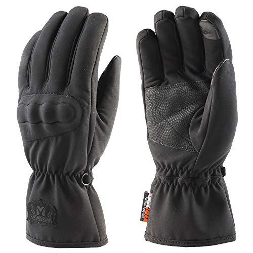 Limiwulw guanti da ciclismo per uomo e donna, guanti impermeabili invernali touchscreen touchscreen completo per moto arrampicata guida escursionismo sci sport all'aria aperta (l)