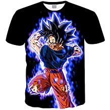 Camiseta Dragon Ball Niño 3D Impresión Hombres Mujer Camisetas y Camisas  Unisex Deportivas Camisetas de Manga 79a93064cbc3c