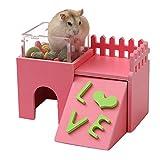 Nette Hamster Versteckhütte, Nette hölzerne Bettwäsche für kleine Tiere, B