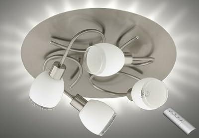 Prisma 3098-042 LED + Eco Halogen Deckenleuchte mit LED Aura inkl. Fernbedienung
