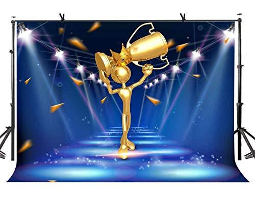 rophäe Hintergrund Wenig Gold Gewinner Gewinner Trophäe Fotografie Hintergrund und Studio Fotografie Kulisse Requisiten LYNAN371 ()