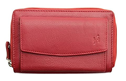 STARHIDE GENUINE LEATHER PURSE WALLET FOR WOMENSE / LADIES - GIFT BOXED #5520 (RED)