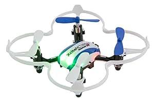 XciteRC 15008050 - Ferngesteuerter RC Quadrocopter Drohne, Rocket 65XS 3D, 4 Kanal RTF, blau/weiß