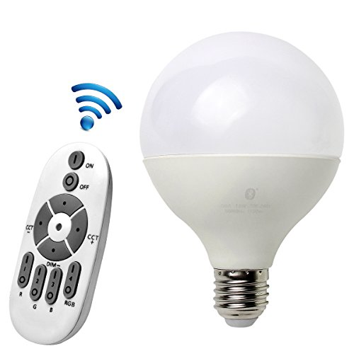 Smart Wireless Lighting (Atuten Intelligentes Spot Starter Set für White und Color Ambience Wireless Lighting, Smart 13W E27 LED Glühbirne Lampen,Dimmerschalter A1 mit 14 Tasten,perfekte Passform, einstellbar, Multicolor, dimmbar)