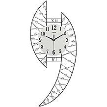 Creative Light- Reloj de pared creativo simple moderno de la sala de estar Reloj de pared grande del reloj de pared de la decoración Reloj silencioso del cuarzo (tamaño: 20 pulgadas)