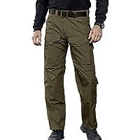FREE SOLDIER Hombres Tactical Pants resistente a los arañazos Four Seasons Pantalones de escalada de múltiples bolsillos color verde, tamaño mediano