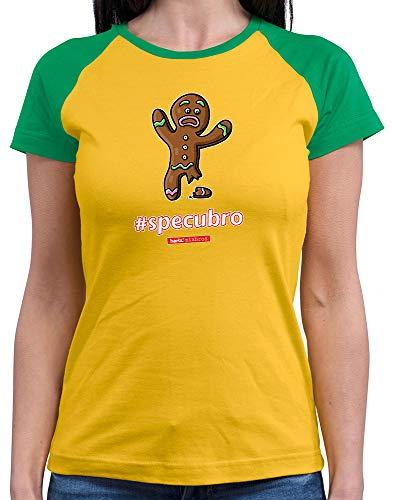 HARIZ  Damen Baseball Shirt Pixbros Specubro Xmas Weihnachten Witzig Geschenke Liebe Plus Geschenkkarte Gold/Kelly Green XXL