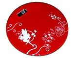 #4: Red Thick Unbreakable Glass Electronic Digital Personal Bathroom Body Weight Weighing Scale
