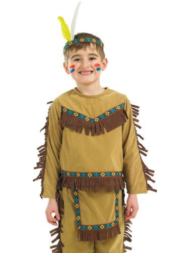 (Indianer Chef Junge - Kinder Kostüm)