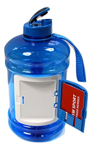 Gym-Water-Bottle-blue-22-Litre-Unisex-Easy-Drink-Cap-includes-storage-Extra-Strong-Long-lasting-BPA-Free-bottle-Perfect-for-Running-Gym-Dieting-Bodybuilding-Sports-Hiking-Office-Home