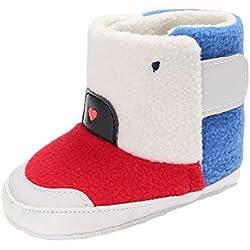 EOZY-Stivali da Neve Bambini Boots Fumetto Scarpe Primi Passi Neonati Bimba (11cm, Rosso)