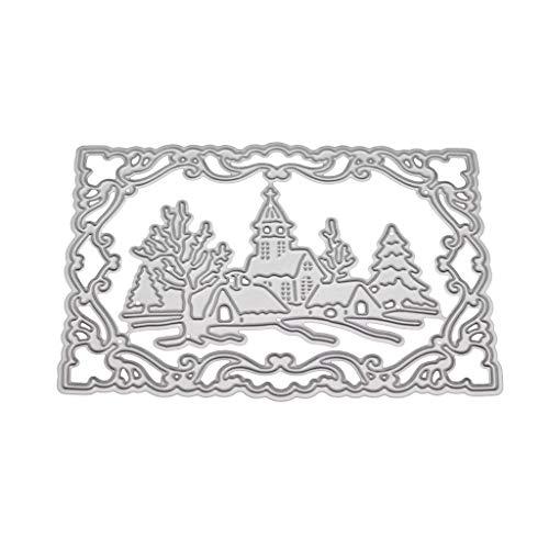 ❤Chaunce Weihnachten Winter Metall Stanzformen Schablone DIY Scrapbooking Album Stempel Papier Karte Präge Handwerk Dekor