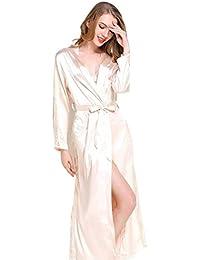 372f55fc92 JZLPIN Da Donna Lungo Pizzo Vestaglia Kimono Accappatoio Indumenti da Notte  Biancheria da Notte Camicia da