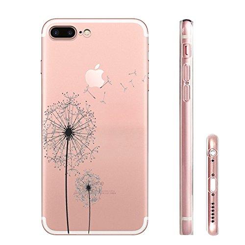 iPhone 7 plus Hülle, Schutzhülle Case Silikon- Clear Ultra Dünn Durchsichtige Backcover TPU Case für iPhone 7 plus der Löwenzahn