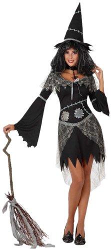 Atosa 8422259148630 - Verkleidung Hexe schwarz, (Halloween Sorciere Kostüm)