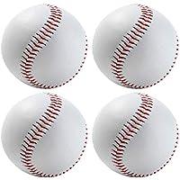 VORCOOL 4pcs Practicar Pelota de béisbol Bola Suave Blanca Pelota de Seguridad de béisbol para Entrenamiento Deportivo al Aire Libre