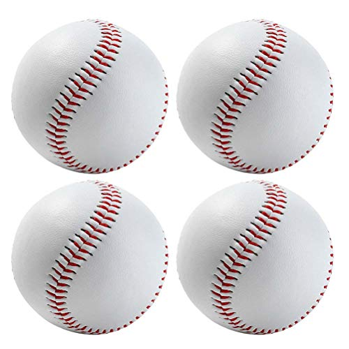 Vosarea 4pcs Baseball weiß Softb...