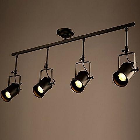 Frideko Retro Style 4 Socket Industrial Spot Light Ceiling Pendant