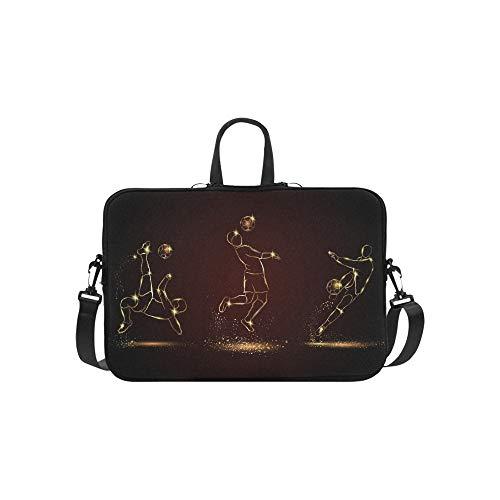 Fußballspieler Set Golden Linear Fußball Aktentasche Laptoptasche Messenger Schulter Arbeitstasche Crossbody Handtasche Für Geschäftsreisen (Linear-laptop-schulter-tasche)
