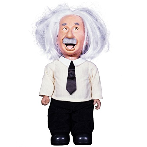 Professor Einstein Robot Talks, Walks, Connects to Wifi, & Uses Voice Commands. Play Brain Games & Learn Science from Albert Einstein Character with Realistic Facial Expressions. Albert Von Apple