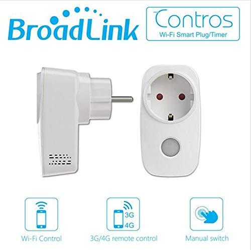 BroadLink SP3 Smart Plug - Presa intelligente con connettività Wi-Fi, controllo remoto e funzione di temporizzazione, compatibile con Alexa, Google Home e IFTTT