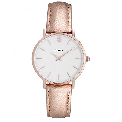 Cluse Unisex Erwachsene Digital Quarz Uhr mit Leder Armband CL30038
