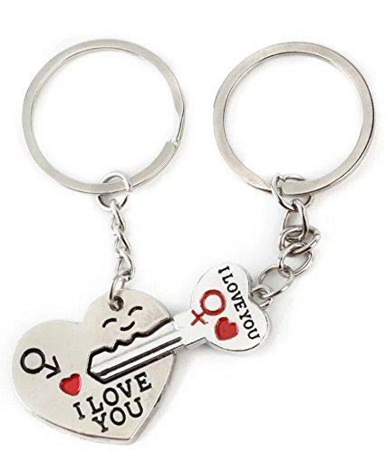 *Out24© Schlüsselanhänger Partner Paar Herz und Schlüssel*