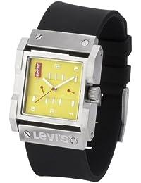Levi's L013GU-3 - Reloj unisex de cuarzo, correa de goma color negro