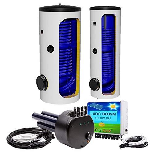 200 250 300 400 500 L Liter Hybrid, elektrische Standspeicher, Warmwasserspeicher mit 2 Wärmetauscher - Solarspeicher - für elektrischen Betrieb und Photovoltaikbetrieb