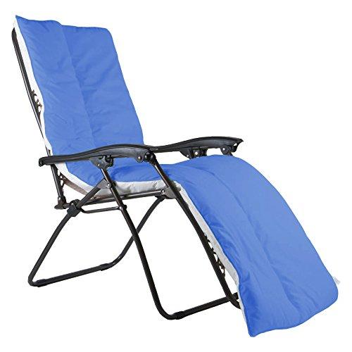 Coussin luxueux UK Care Direct pour chaise longue - Étanche - Pour terrasse, jardin - Fabriqué au Royaume-Uni bleu marine