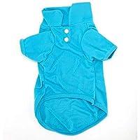 ملابس قطط وكلاب تنكرية بتصميم قميص ظريف وجاكيت تنكري - ازرق - مقاس L