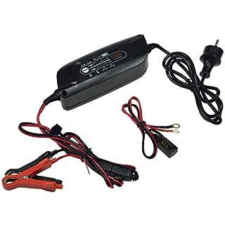 ChiliTec Vollautomatisches Ladegerät für Motorrad- & Auto 12V Verpolungsschutz (Ladegerät 12V / 5A)