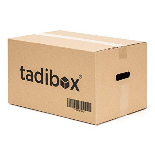 12 Cajas de Cartón para Mudanza Talla M con Asas - Extra Resistentes Fabricadas en España - 44x30x25cm...