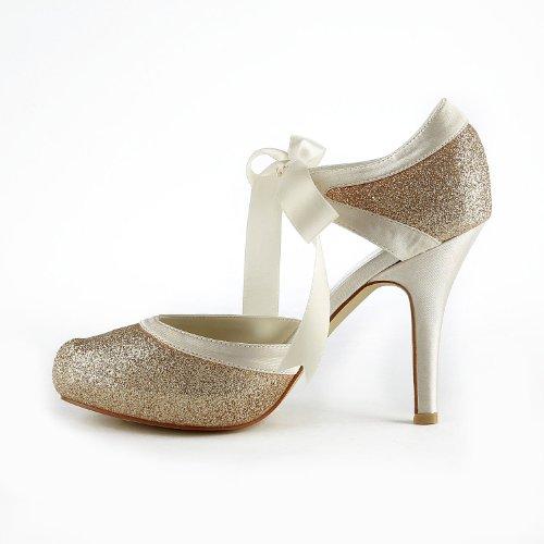 Jia Jia Wedding 37030 Scarpe Sposa Scarpe col tacco donna Oro