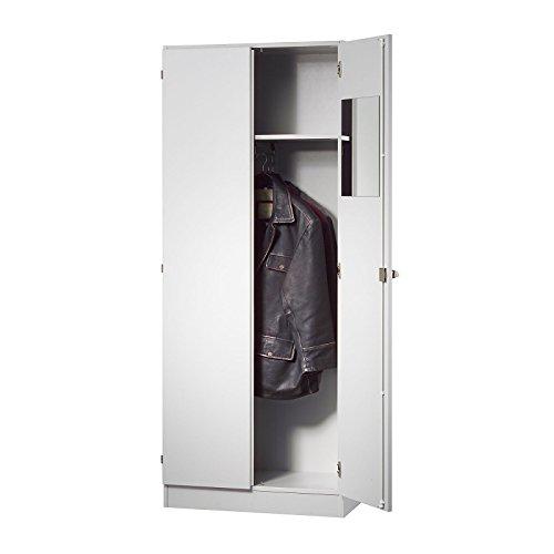 Hammerbacher FINO Garderobenschrank - mit 1 Fachboden und 1 Kleiderstange - lichtgrau - Aktenschrank Büroschrank FINO FINO Büromöbelprogramm Flügeltürschrank Garderobenschrank Kleiderschrank