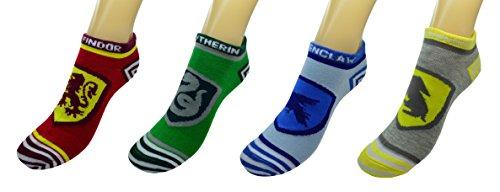 calcetines de Harry Potter medias de la cresta de Hogwarts 41-45 Rojo Gris FYM510KVQ